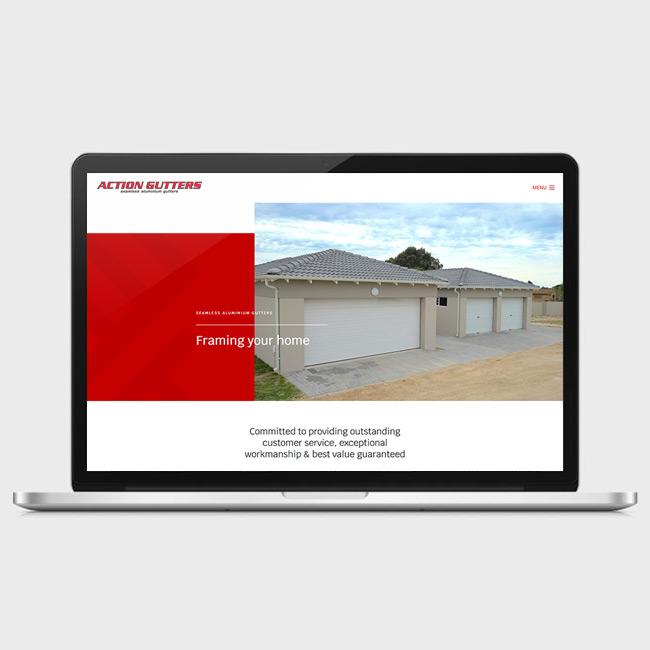 Website Design for Action Gutters