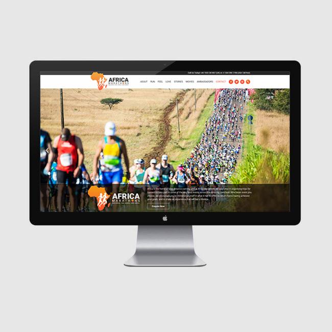 Website Design for Africa Marathons