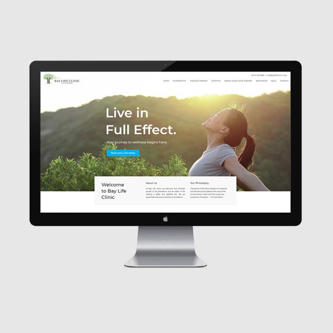 Website Design for Bay Life Centre