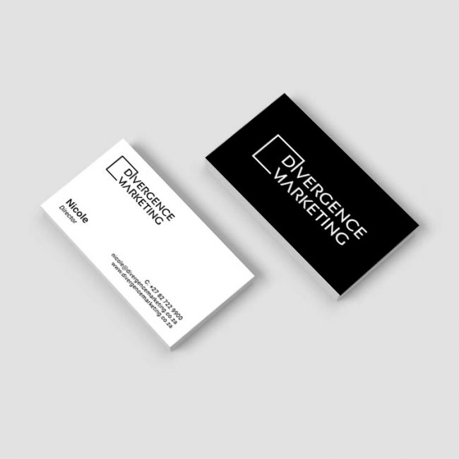 Business Card Design for Divergence Marketing