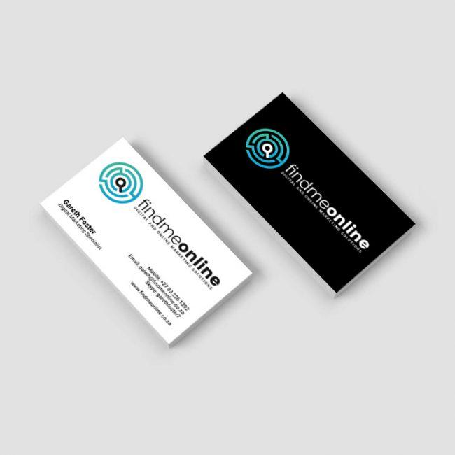 Business Card Design for Find Me Online