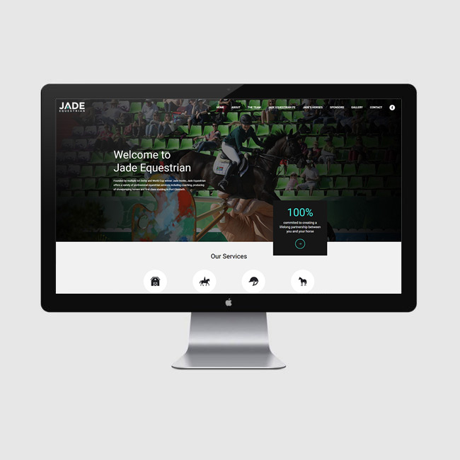 Website Design for Jade Equestrian