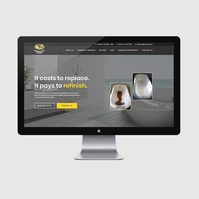 Website Design for Mend A Bath