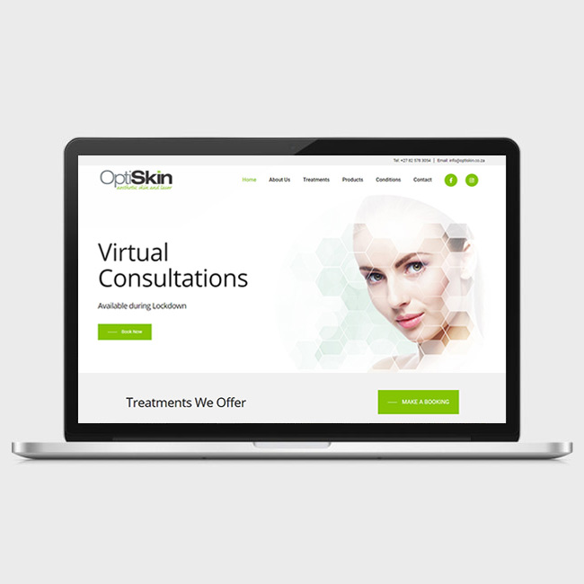Website Design for OptiSkin