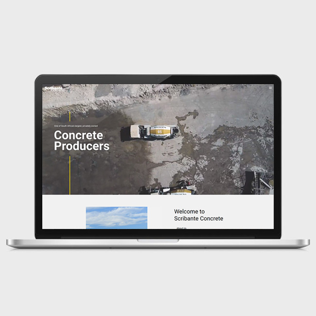 Website Design for Scribante Concrete